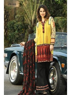 Asim jofa luxury winter shawl collection-Yellow