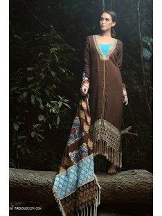 Firdous luxuary Collection Brown shawl