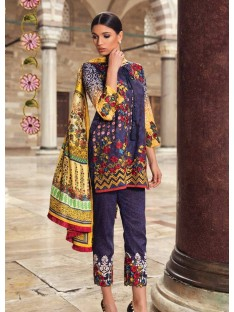 Mina Hasan Luxury Embroidered Lawn Collection-2-A