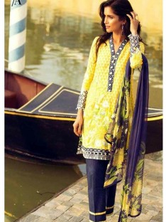 Mina Hasan Luxury Embroidered Lawn Collection-3a yellowblue