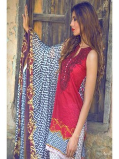 Mina Hassan Embroidered Lawn Collection'16-D-03