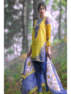 Mina Hassan Embroidered Lawn Collection'16-D-08