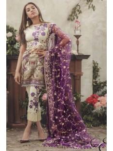 Noor By Sadia Asad Luxury Lawn Collection'18 LA POE'TESSE-D-06