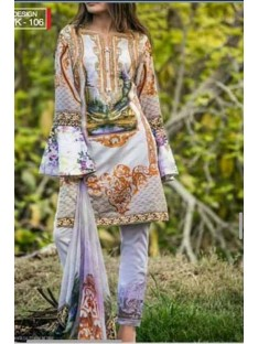 Salitex Rococo Lawn Vol2 Collection'18-D-02