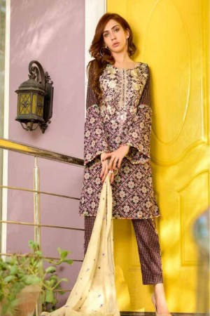 Lala Embroidered Designer Collection'19-D-06