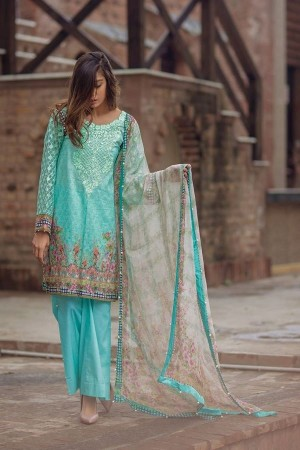 Noor By Sadia Asad Luxury Lawn Collection' Aqua whiff