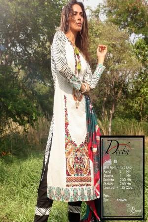Deeba Shariq Embroidered Lawn Collection'15-D-4B