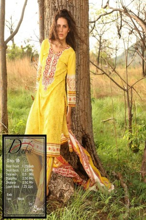 Deeba Shariq Embroidered Lawn Collection'15-D-9B