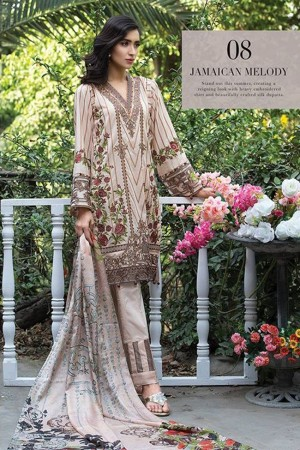 Jazmin Embroidered Lawn Collection-D-08