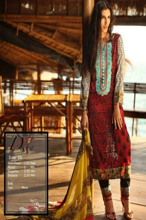 Deeba Shariq Embroidered Lawn Collection'15-D-2A