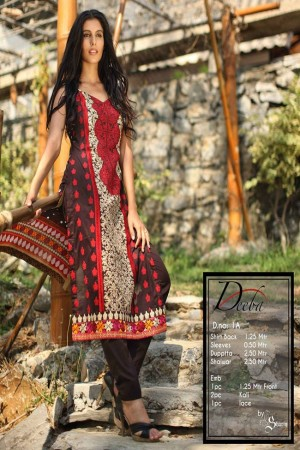 Deeba Shariq Embroidered Lawn Collection'15-D-1A