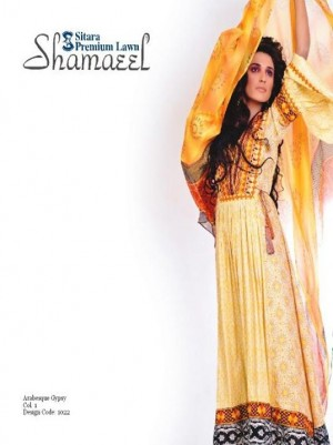 Shameel lawn yellow