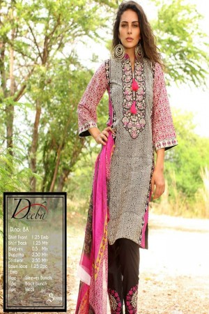 Deeba Shariq Embroidered Lawn Collection'15-D-8A