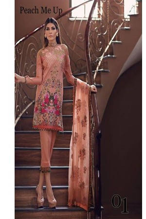 Noor By Sadia Asad Luxury Lawn Collection' peach me up