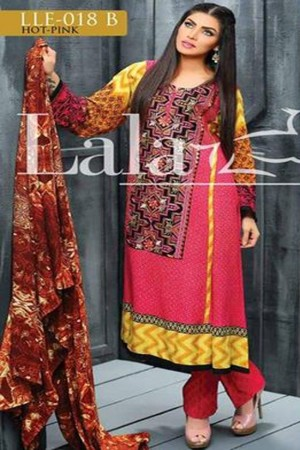 Lala classic linen embroidered collection-18-B