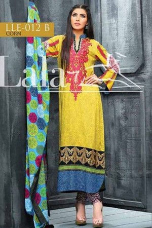 Lala classic linen embroidered collection-12-B