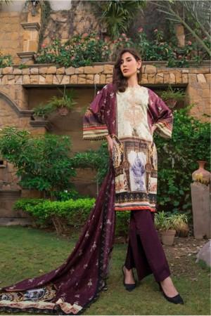 AyeshaNoor Satin silk 19  09 Burgundy