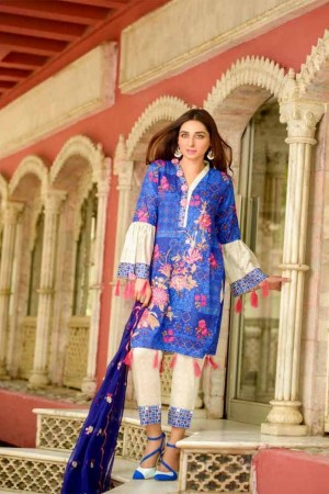 Lala Embroidered Designer Collection'19-D-03