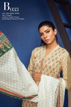 Orient Summer Series I  Embroidered Collection-033A