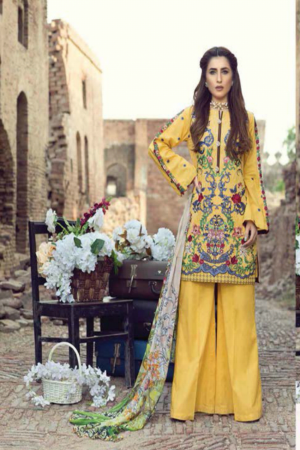 Adan's Libas Gardenia Embroidered Lawn Collection-D-01