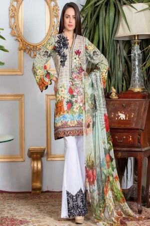 Adan's Libas Gardenia Embroidered Lawn Collection-D-03