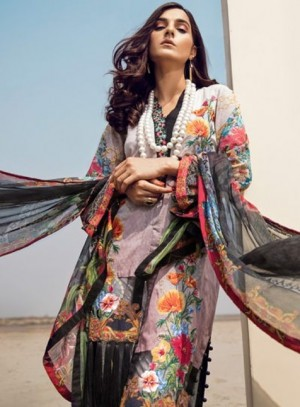 Adan's Libas Tales Of Eden Lawn Collection-Chained To You
