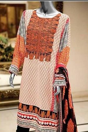 Amna ismail semi stitch lawn collection-06