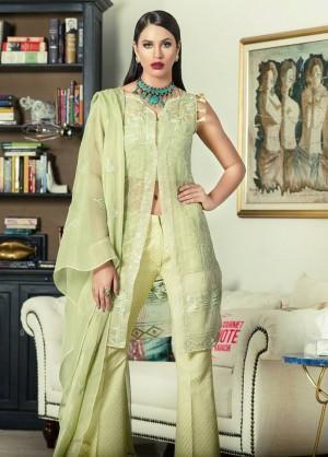 AmnaAqeel Formal Collection green