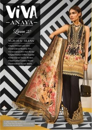 VIVA-ANAYA by Kiran Chaudhry Lawn 20 10A