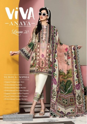 VIVA-ANAYA by Kiran Chaudhry Lawn 20 1A