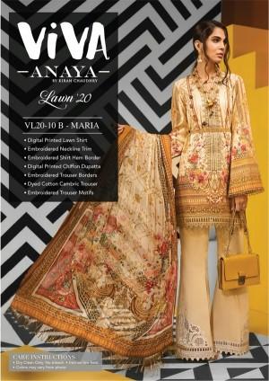 VIVA-ANAYA by Kiran Chaudhry Lawn 20 10B