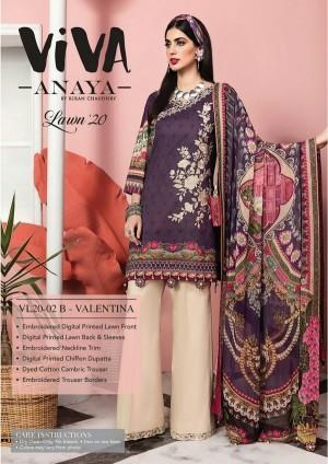 VIVA-ANAYA by Kiran Chaudhry Lawn 20 2B