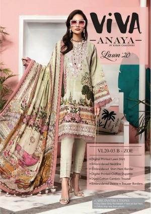 VIVA-ANAYA by Kiran Chaudhry Lawn 20 3B