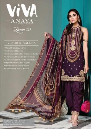 VIVA-ANAYA by Kiran Chaudhry Lawn 20 4B