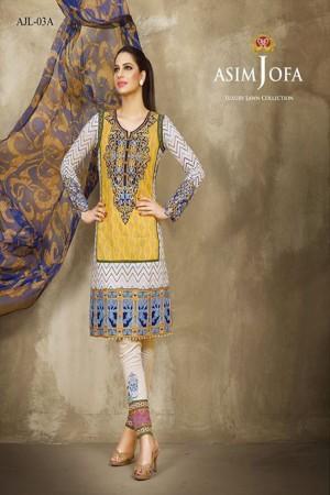 Asim Jofa Luxury Lawn Collection'AJL-03A