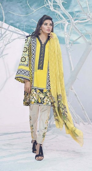 Auj Luxury Lawn Collection'18-D-01