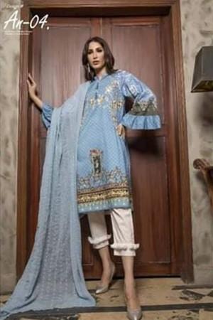 Ayesha Noor Chikankari Lawn Collection'19-D-04