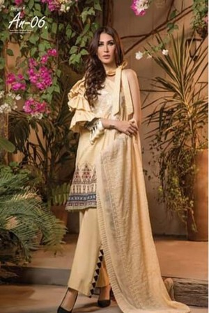 Ayesha Noor Chikankari Lawn Collection'19-D-06