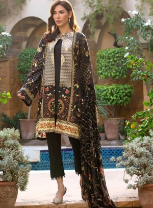AyeshaNoor Satin silk 19  07 Black