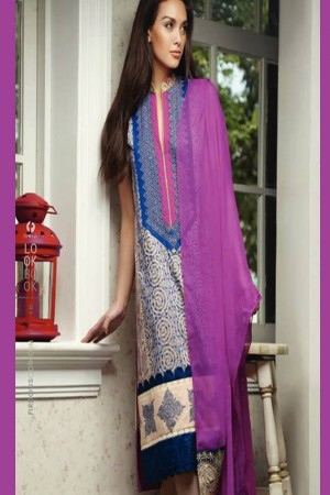 Firdous luxuary Collection chickenkari pink