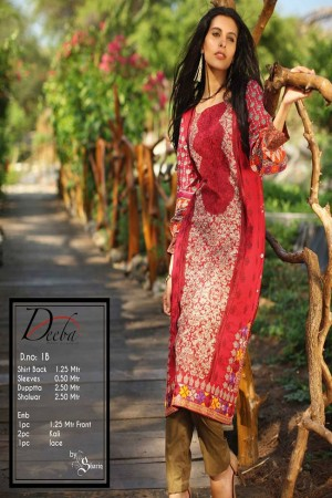 Deeba Shariq Embroidered Lawn Collection'15-D-1B