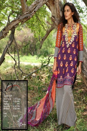 Deeba Shariq Embroidered Lawn Collection'15-D-6A