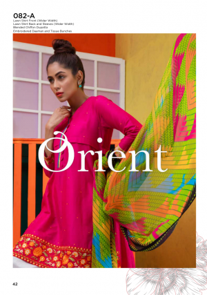 Orient Blended Chiffon Vol1 Collection'19-082-A