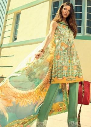 Faraz Manan Lawn Collection-D(18)-15 green