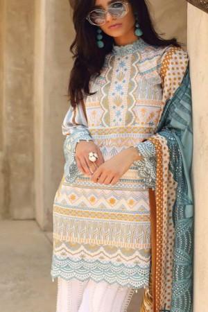 Faraz Manan Lawn Collection'19-D-06