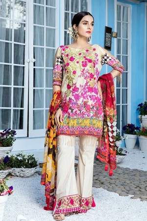Gulaal Vol2 Embroidered Lawn Collection'18-D-01