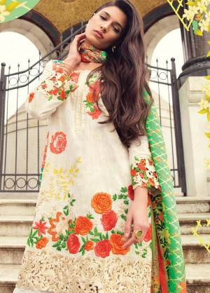 Mina Hasan Luxury Embroidered Lawn Collection-1-A