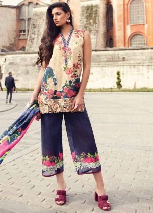 Mina Hasan Luxury Embroidered Lawn Collection-3-B