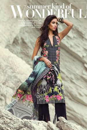 Sapphire Lawn Vol III Collection'18-D-01