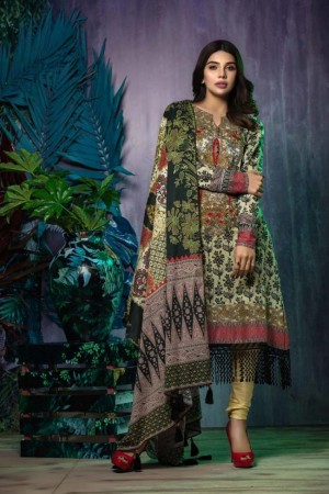 Tatheer Luxury Lawn Collection'19-D-01